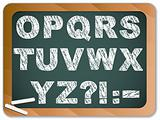 Chalk Alphabet on Blackboard
