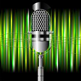 Microphone over stripes