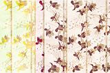 Yellow and aubergine faded floral background
