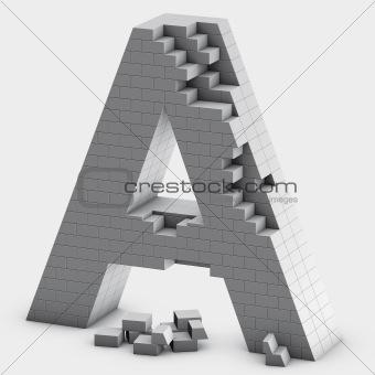 brick A letter