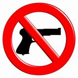 Sign of prohibited weapons