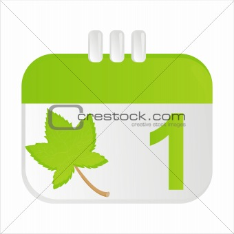 autumn calendar icon