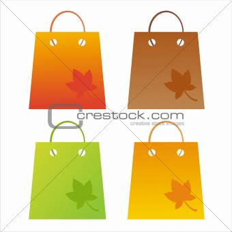 autumn shopping bags