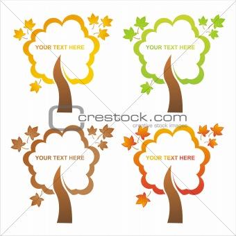 autumn tree frames