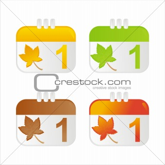 autumn calendar icons