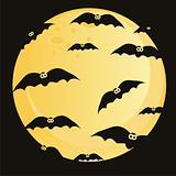 bats over moon