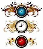 clocks with floral elements