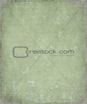 Faded grunge green plaster background with frame