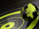 world and target  geolocation - background