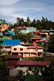 Buildings on a hillside in Santa Elena