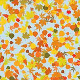 Seamless pattern with autumn leafs