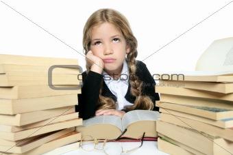 beautiful  little student girl