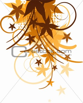 Autumn design element