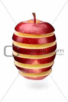 Abstract apple slices