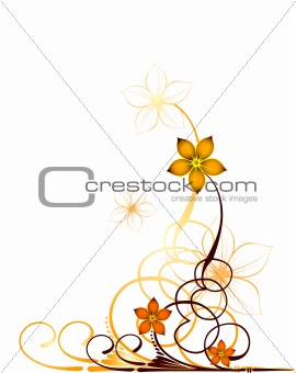 Autumn floral design background. Vector