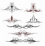 Set art elements of ornament. Vector illustration
