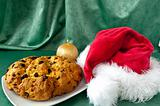 Panettone and hat of Santa Claus