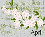 April calendar page
