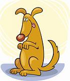 Dog's tricks: stand