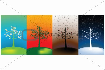 Abstract concept of year's seasons