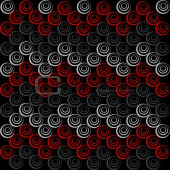 Background with grey and red circles