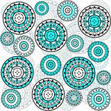 background with turqoise circles