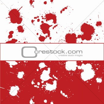 Banner with red ink spots