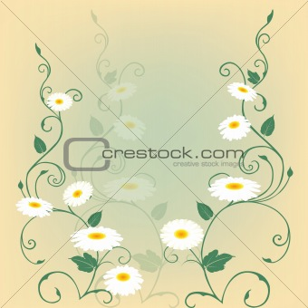 Beautiful background with flowers in pastel tones
