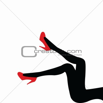 beautifull legs with red shoes