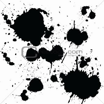 Black ink spots
