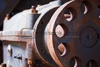 Grunge industrial engine failed