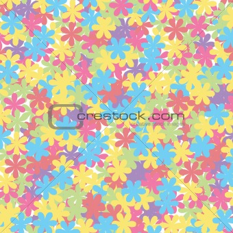 Beautiful background with muticolroed flowers