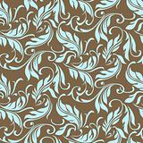 Vector Floral Swirl Leaf Pattern
