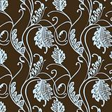 Vector Floral Hatch Pattern