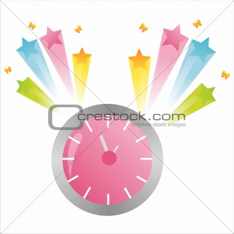clock with splash