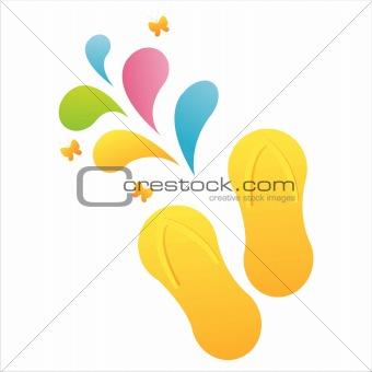 flip flops with splash