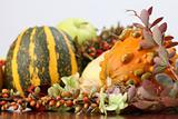 Autumn arrangement with pumpkins