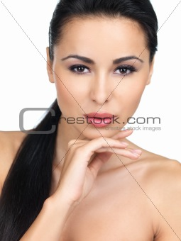 Beauty on white background