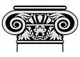 Vector illustration classic column