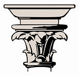 Vector illustration classic column