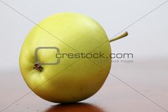 Green organic apple