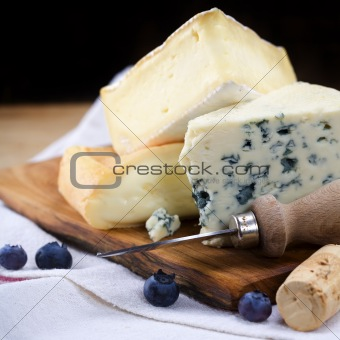 Three cheeses