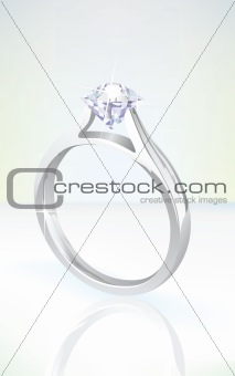 brilliant diamond engagement ring in white gold