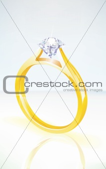 brilliant diamond engagement ring in yellow gold