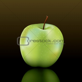 vector granny smith apple