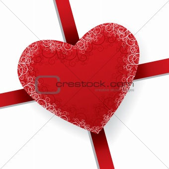 beautiful vector floral heart present