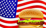 vector all American hamburger
