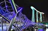 A helix shaped bridge at Marina Bay