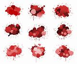 Red ink blobs