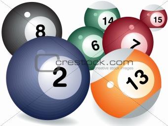 Pool game balls